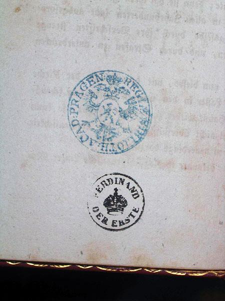 Книга з особистої печаткою Фердинанда І.