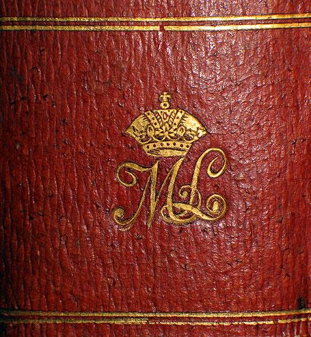 Монограма ML на книгах колекції Габсбургів