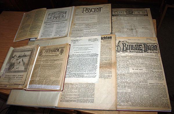 Газети з бібліотеки В. Сімовича